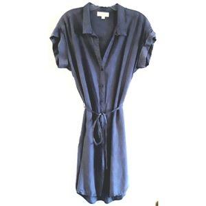 Cloth & Stone Women's Blue Shirtdress Size Small